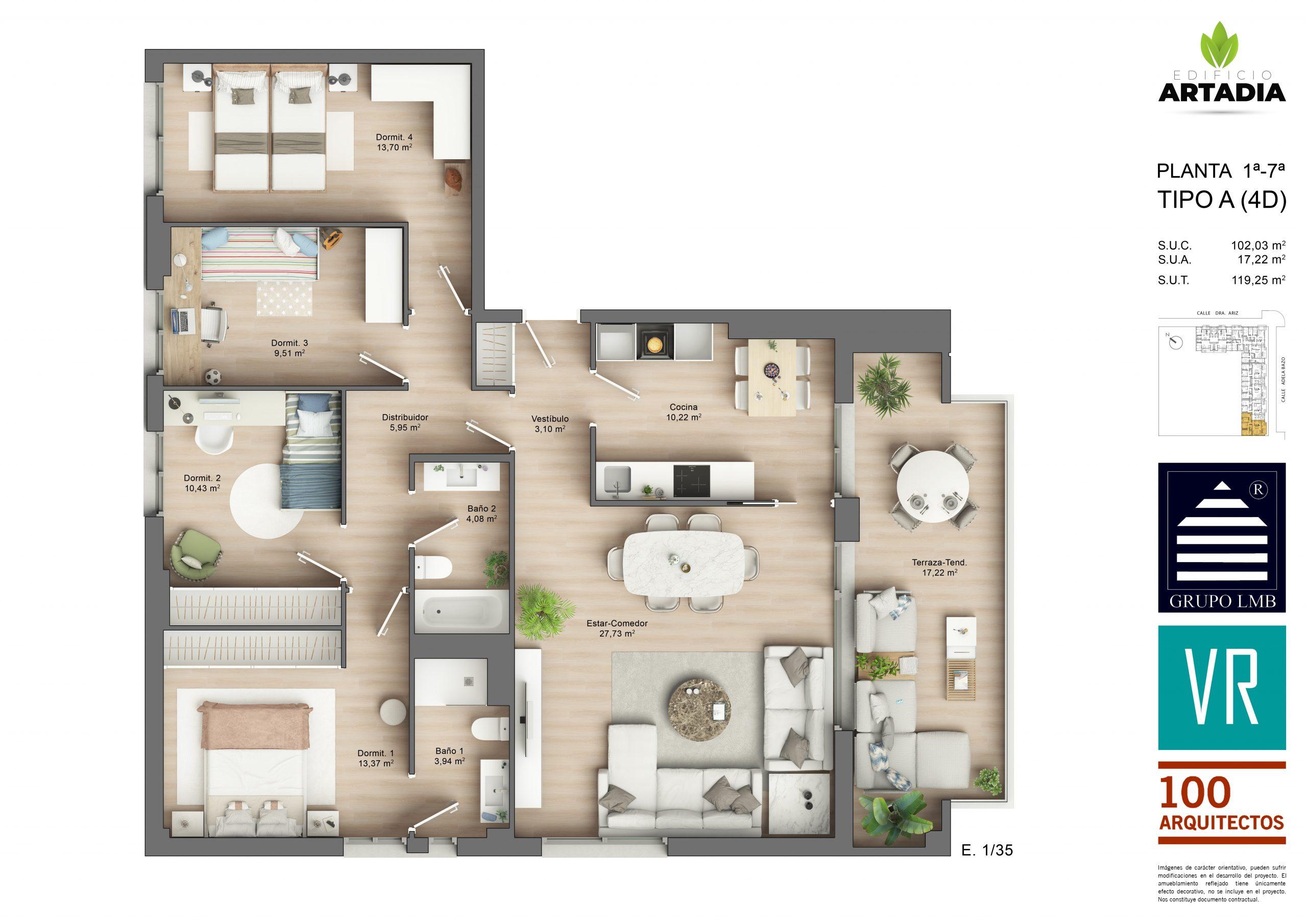 Vivienda de 4 dormitorios