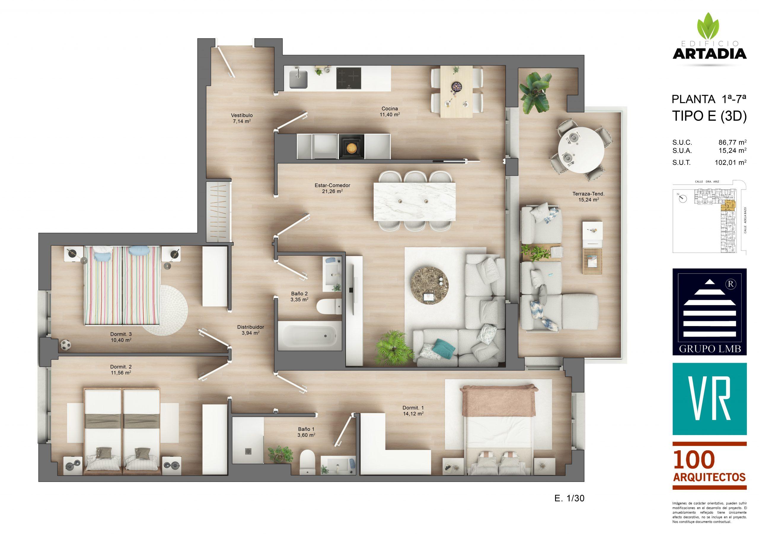 Vivienda de 3 dormitorios
