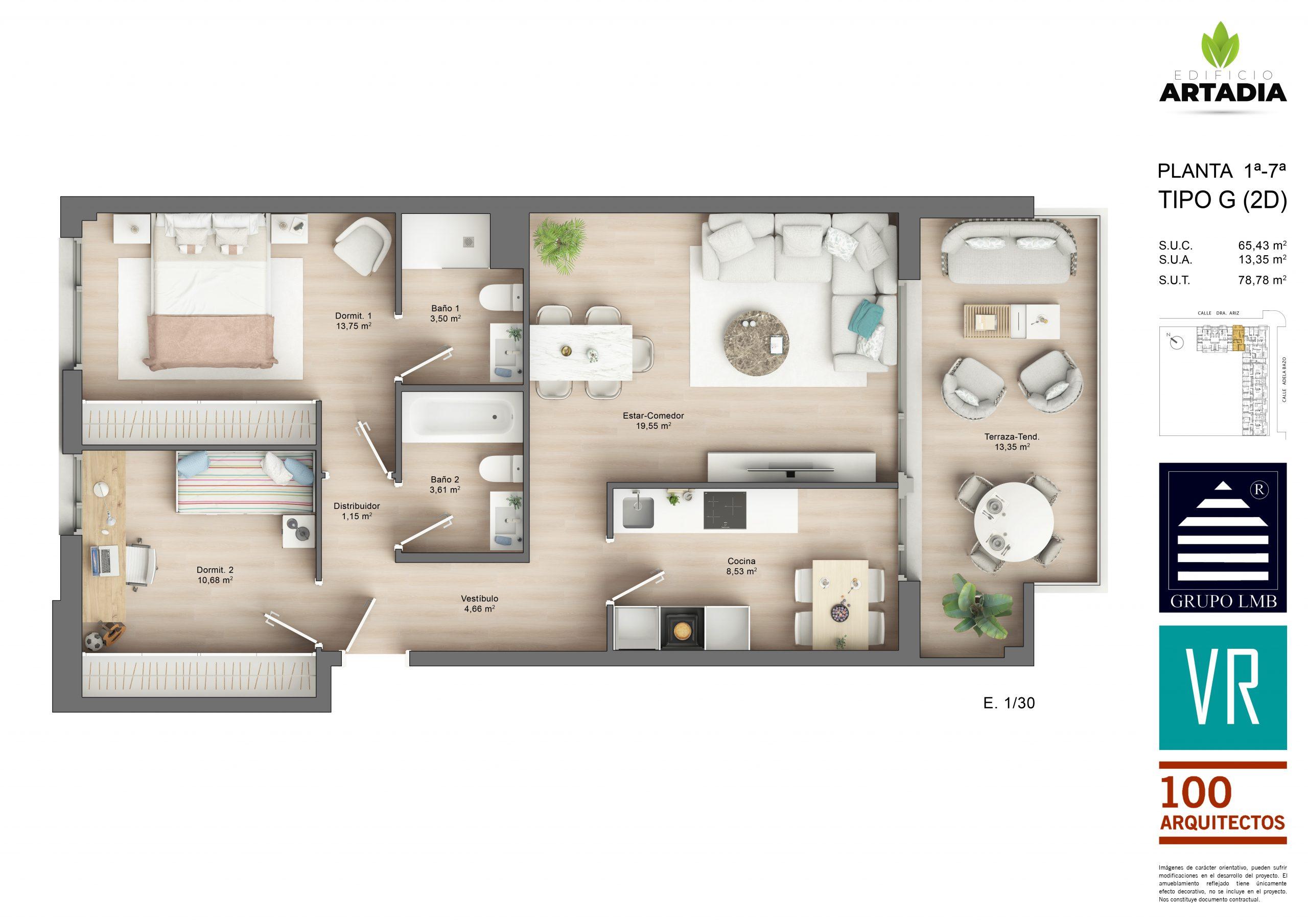 Vivienda de 2 dormitorios